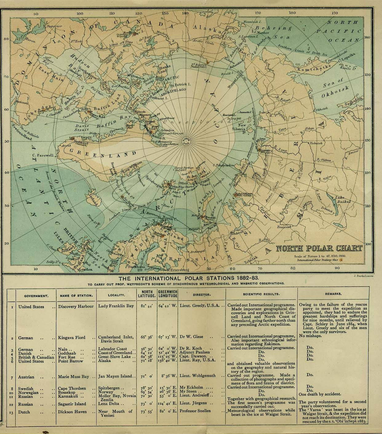 North pole map showing the international polar stations 1882 1883 north pole map showing the international polar stations 1882 1883 published by the gumiabroncs Image collections