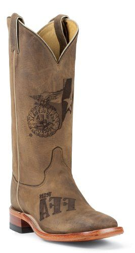 Justin Mens Cowboy Boots Tan Distressed