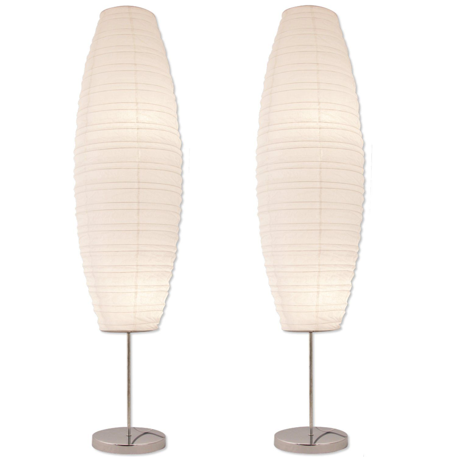 Diploma floor lamp with paper shade japanese style model
