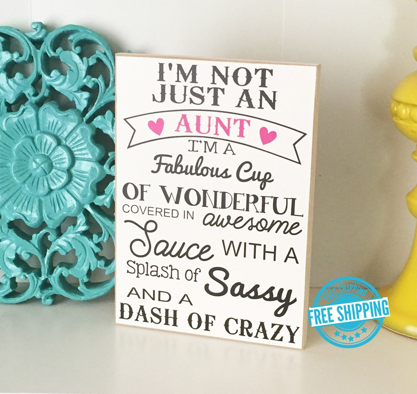Aunt Sign- Aunt Gift, Sister Gift, Gift for Aunt, Gift for Sister ...