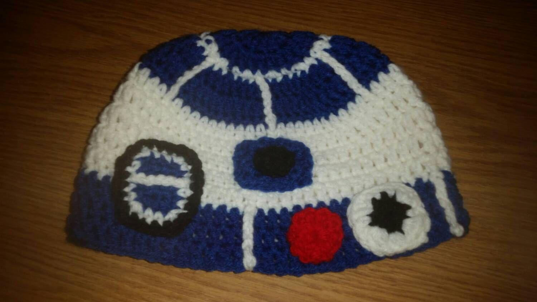 R2D2 Hat, Star Wars Hat, Child Hat, Crochet Star Wars, Crochet Hat ...