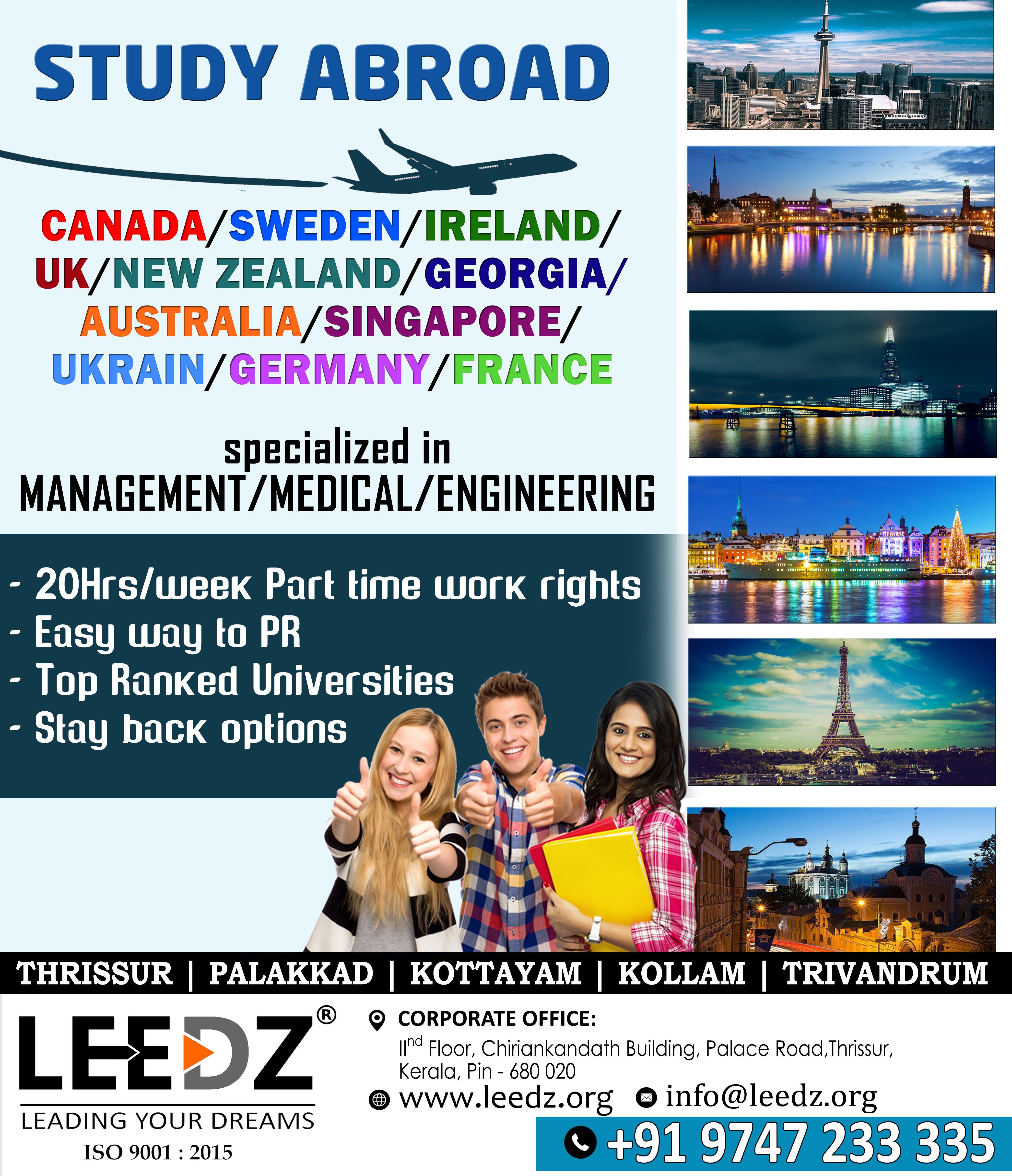 Leedz offers service in overseas education. we provide