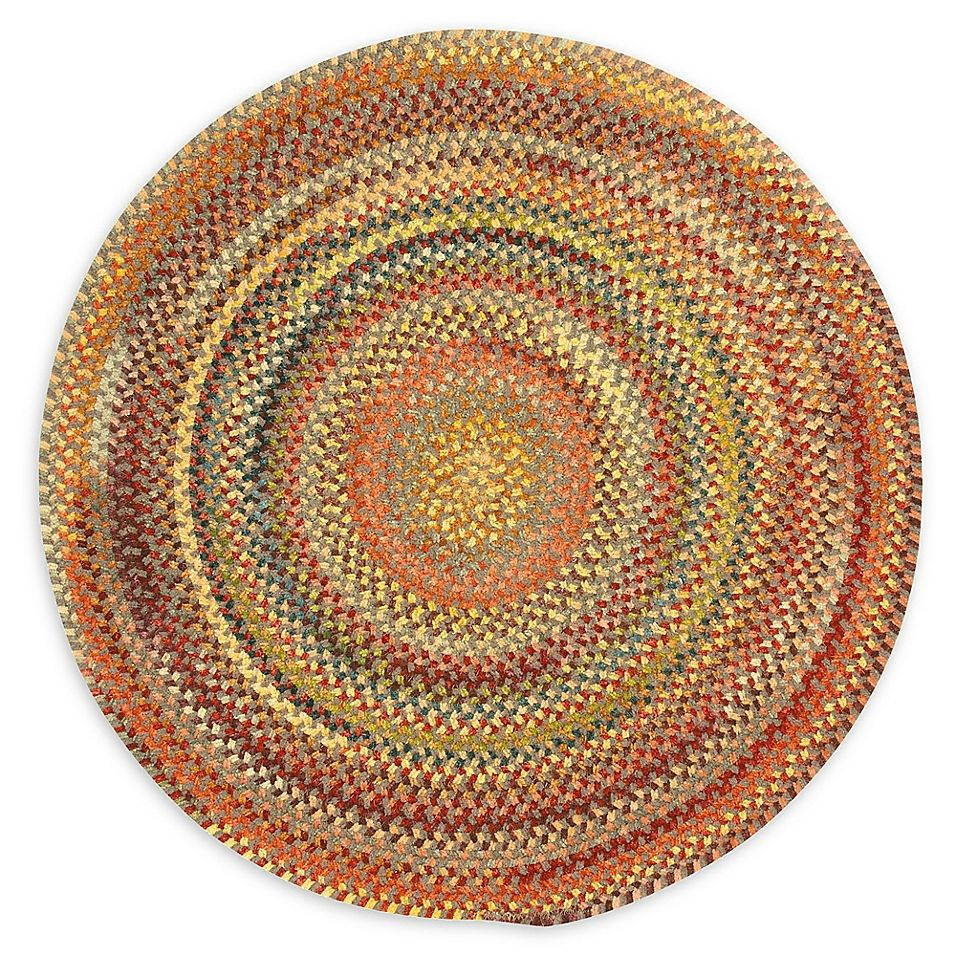 Capel Rugs Eaton Braided 5 6 Round Rug In Yellow With Images