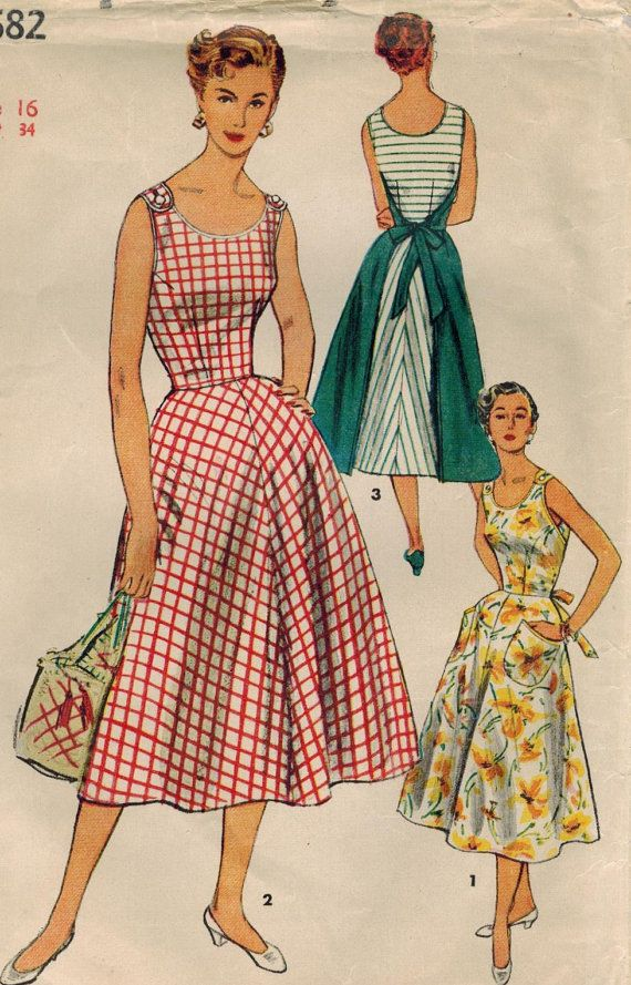 1950s Simplicity 4682 Vintage Sewing Pattern Misses Wrap