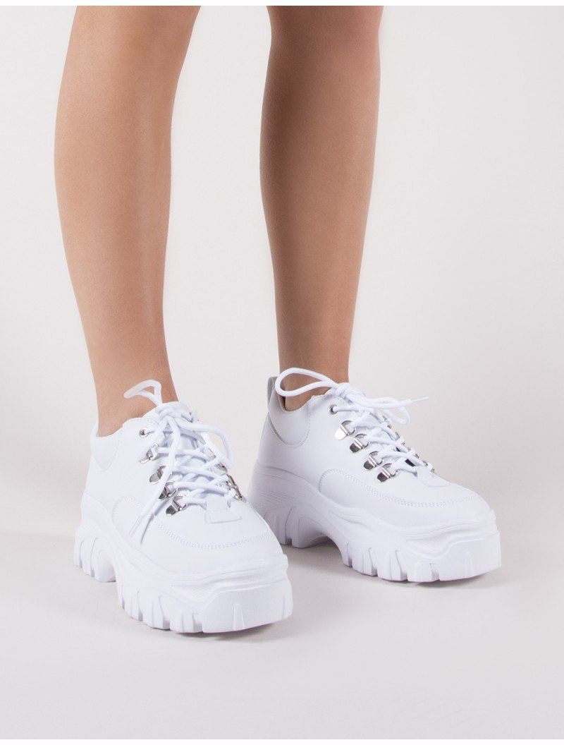 623167f19d9 Vouch Chunky Trainers in White     Public desire    white dad sneakers
