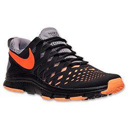 newest cde03 4748c Men s Nike Free Trainer 5.0 Shield Training Shoes   FinishLine.com    Black Atomic Orange Cement Grey