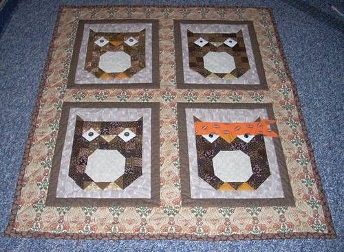Owl Quilt with a Twist | Keep Me Cozy | Pinterest | Owl quilts ... : owl pattern quilt - Adamdwight.com