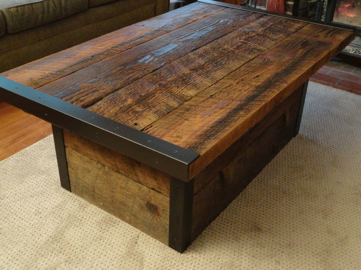 Love The Idea Of Angle Iron Edges Coffee Table Wood Modern Wood Coffee Table Distressed Wood Coffee Table [ 900 x 1200 Pixel ]