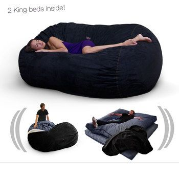 Bean bag with 2 king beds inside it--letu0027s have a slumber party! ~ I want one  sc 1 st  Pinterest & Bean bag with 2 king beds inside it--letu0027s have a slumber party! ~ I ...