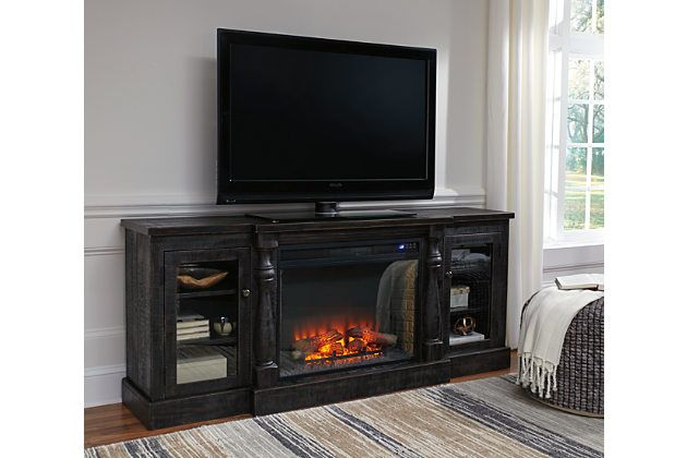 Mallacar 75 Quot Tv Stand With Electric Fireplace Fireplace