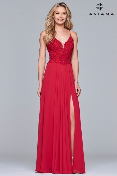 6c67083f5ff4ff 2019 Red Prom Dresses - Short & Long Styles | Faviana | Faviana ...