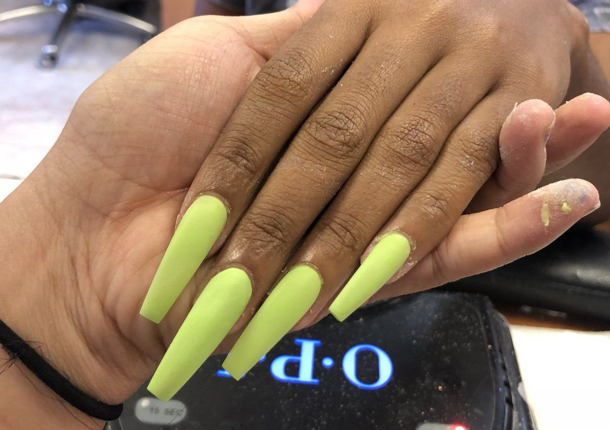 Kaili On Twitter Coffin Nails Long Nails Claw Nails