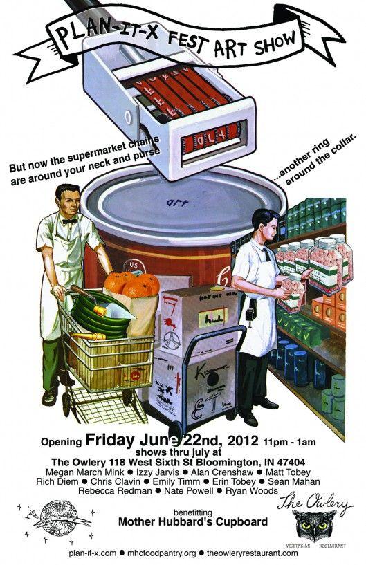 Plan It X Fest Art Show Rad Flier By Rich Diem Of Bakery Outlet Records Art Show Bakery Outlet Supermarket