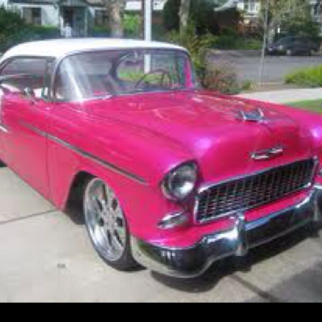 Hot pink Chevy Bel Air