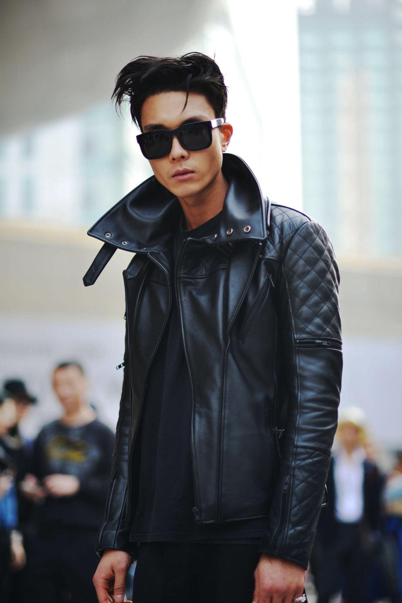 Street style: Kim Do Jin at Seoul Fashion Week Fall 2015 shot by Jeon Seung Ho