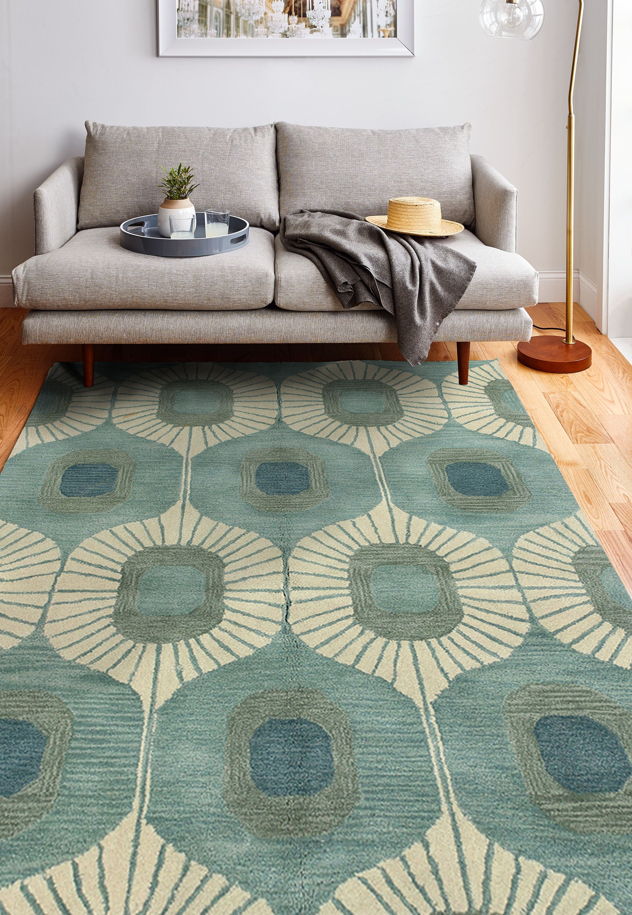 Brighten Your Living Room With The Woodbridge Are Rug From Bashian S Chelsea Collection M Rugs In Living Room Mid Century Modern Rugs Living Room Decor Modern