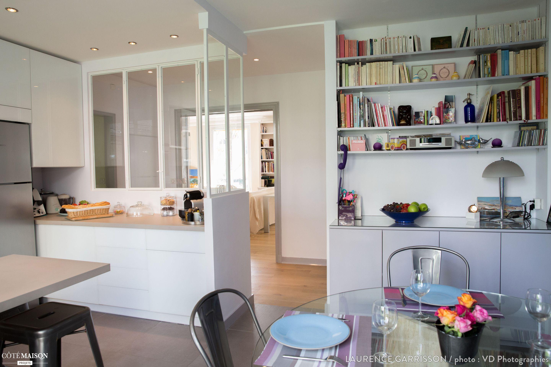 epure et design pour une cuisine verri re neuilly laurence garrisson c t maison cuisine. Black Bedroom Furniture Sets. Home Design Ideas