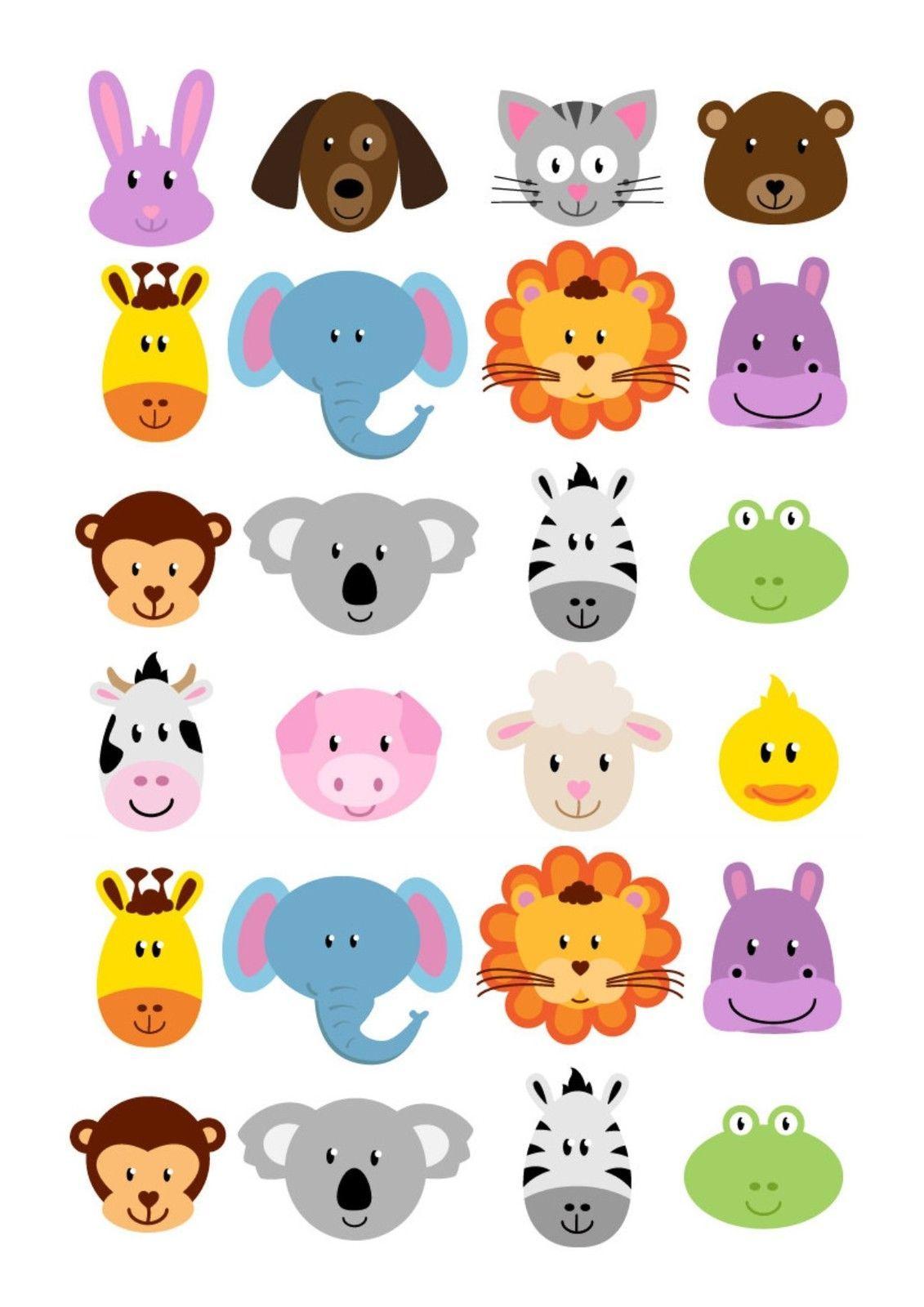 Мордочки животных картинки для детей, статусы