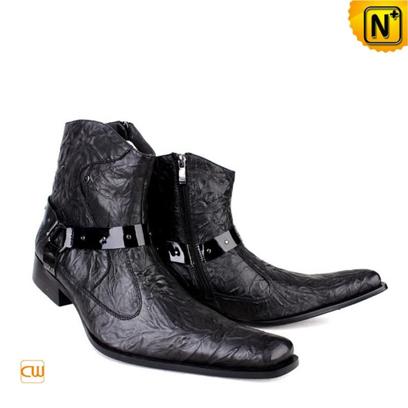 Mens Designer Dress Boots Black CW701103 Our cool cowboy style ...