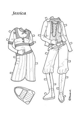 Karen`s Paper Dolls: Jessica 1-4 Paper Doll to Colour. Jessica 1-4…