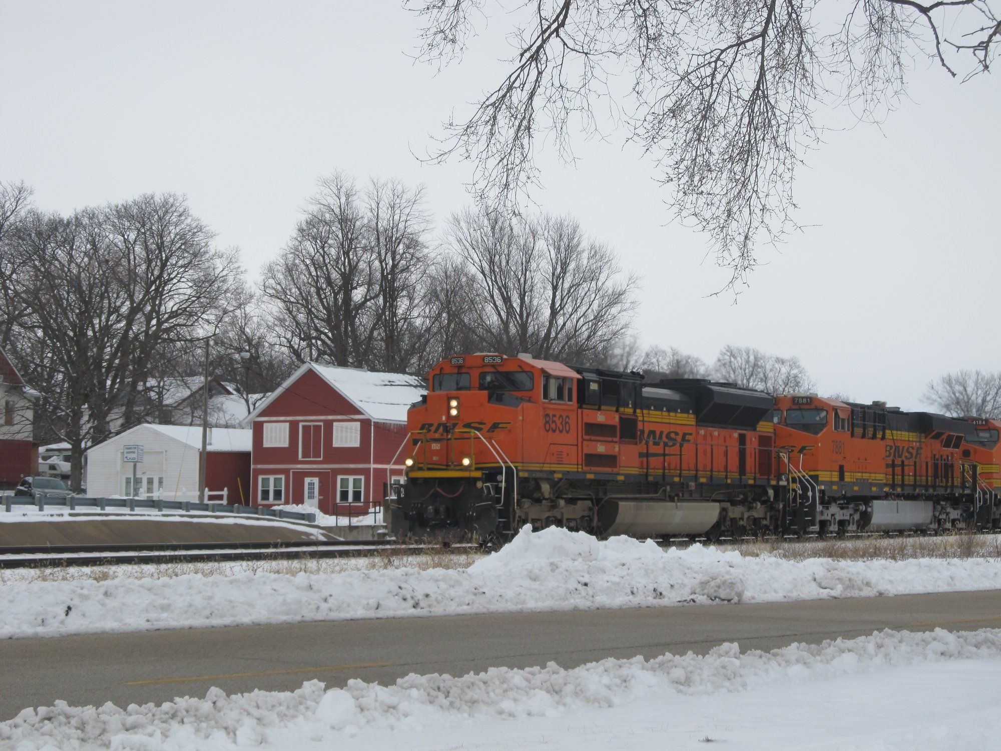 Wb Bnsf On The Chilli Sub In Galesburg Illinois In Mid January
