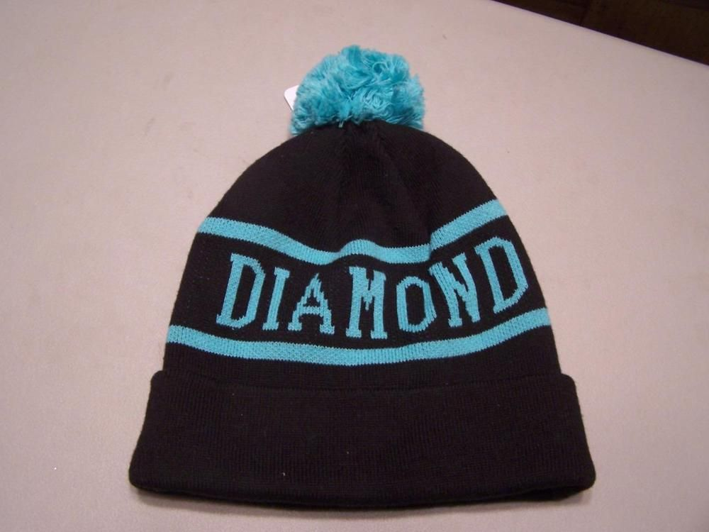 4d5c4428c14 Diamond Supply Co. Black   Blue Green Pom Pom Winter Beanie Warm Skull Cap  S2844  fashion  clothing  shoes  accessories  mensaccessories  hats (ebay  link)