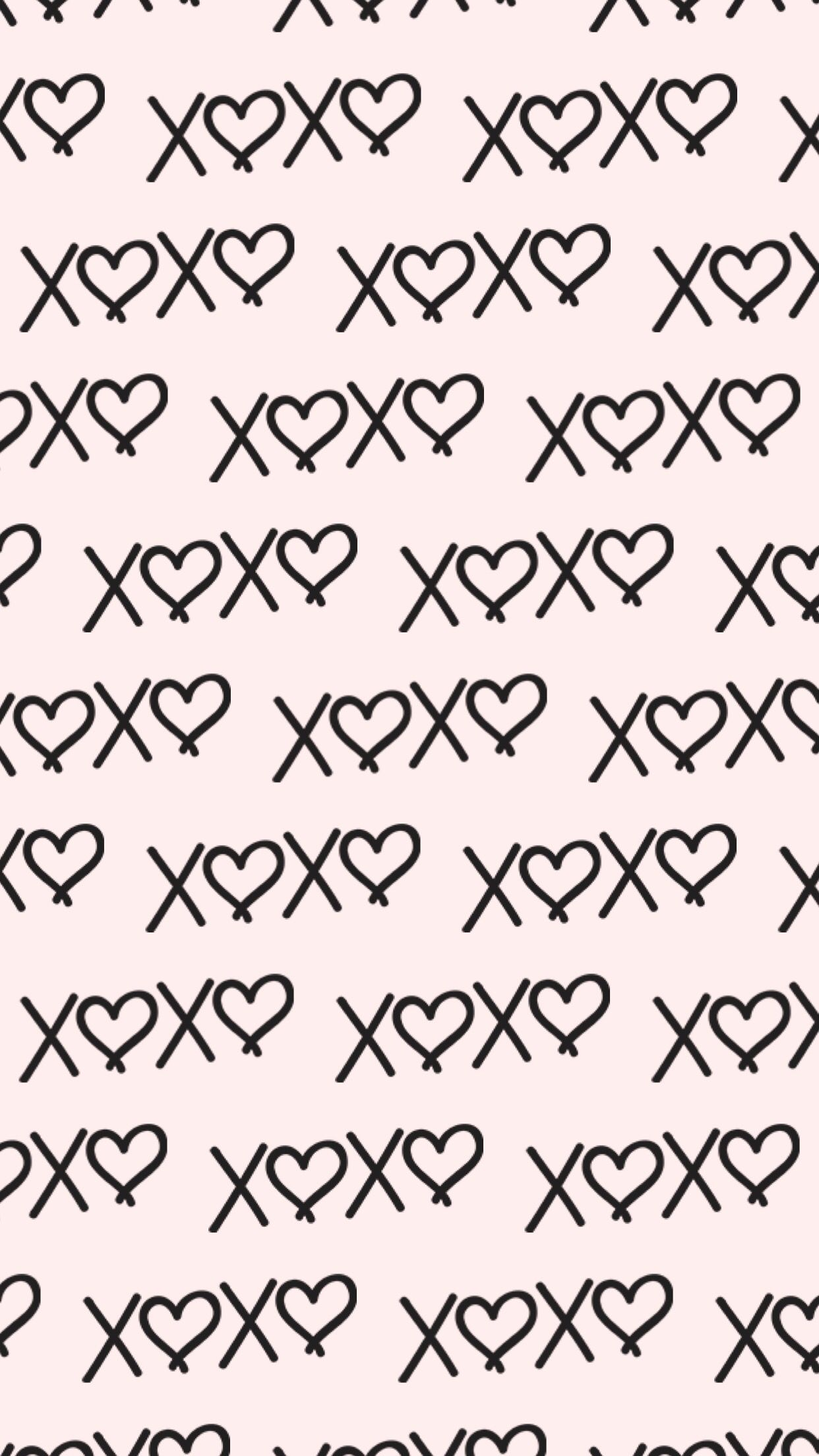 XOXO wallpaper background HD iPhone Android iPad Cute