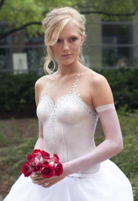 Body Painted Wedding Dress