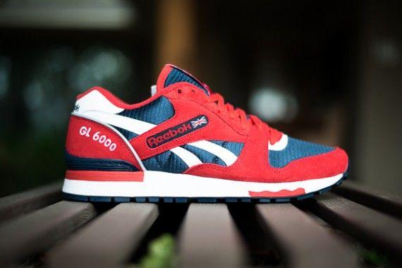 Reebok Gl 6000 Red Navy White Sneakernews Com Sneakers Reebok Sneakers Fashion