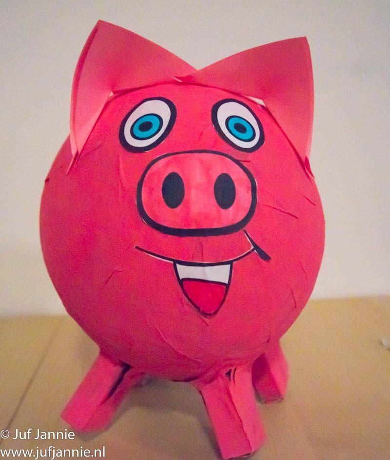 materialen: ballon papier-maché lijm (of behanglijm) kranten verf