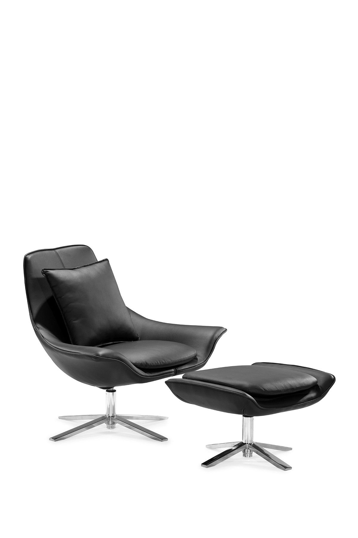 Black ottoman chair - Vital Black Lounge Chair And Ottoman