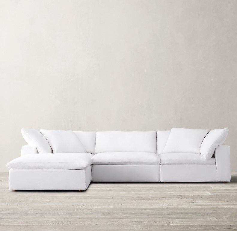 Cloud Modular Sofa Chaise Sectional In 2020 Modular Sofa White Sectional Sofa Chaise Sofa