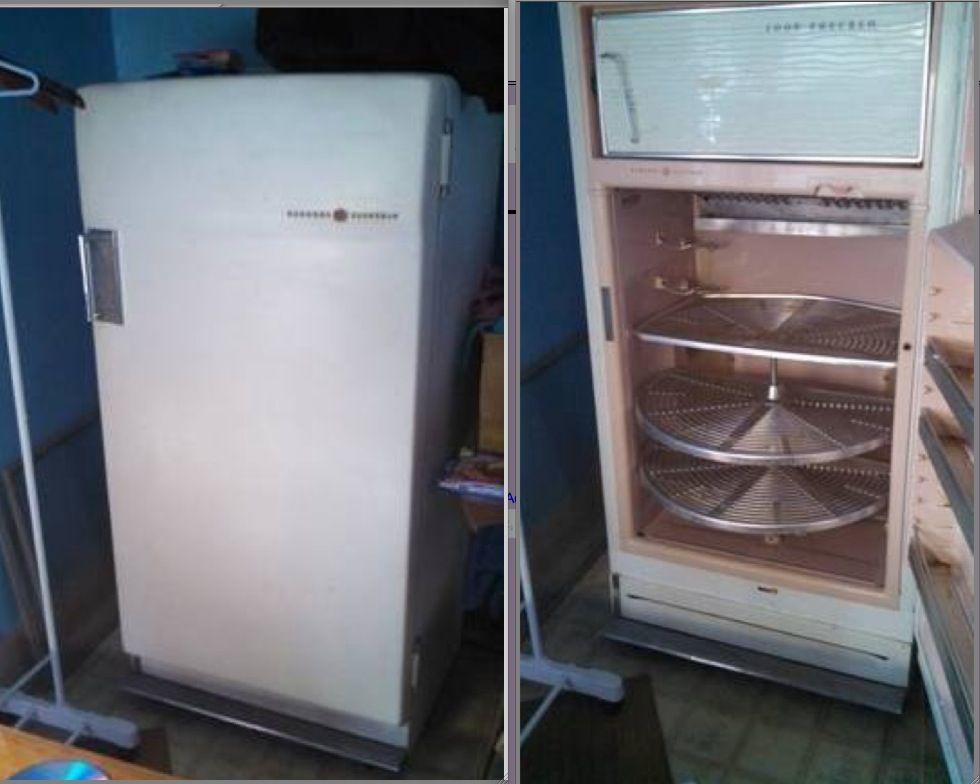 1959 General Electric Refrigerator Antique  Vintage  1