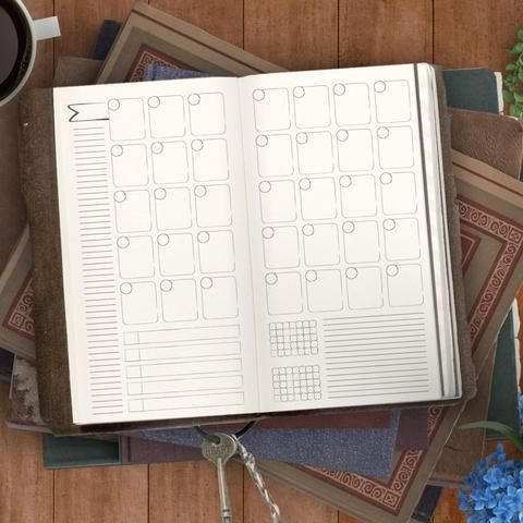LabelFree Month Calendar Printable Insert For Midori And Fauxdori