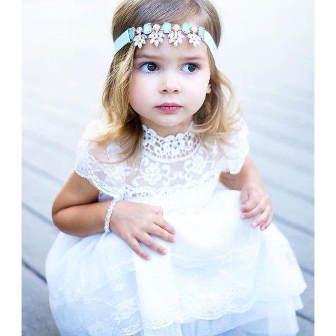 vente chaude en ligne b1d6e 36252 Robe de baptême pour enfants, Robe blanche en dentelle pour ...