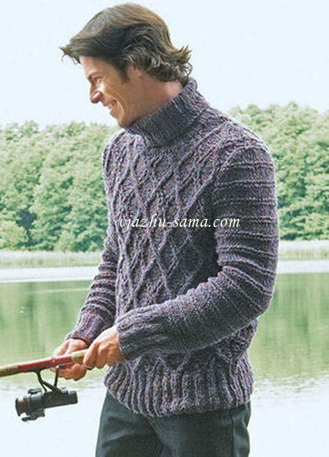Мужской свитер с узором ромбы   Мужской свитер, Свитер ...