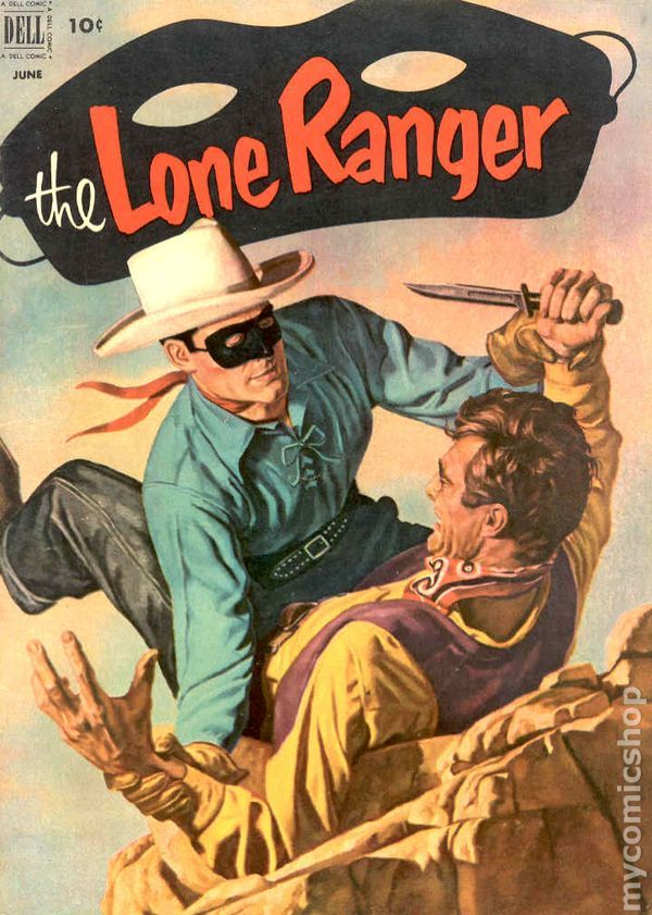 Dell Comics covers western | Lone Ranger (1948 Dell) comic books