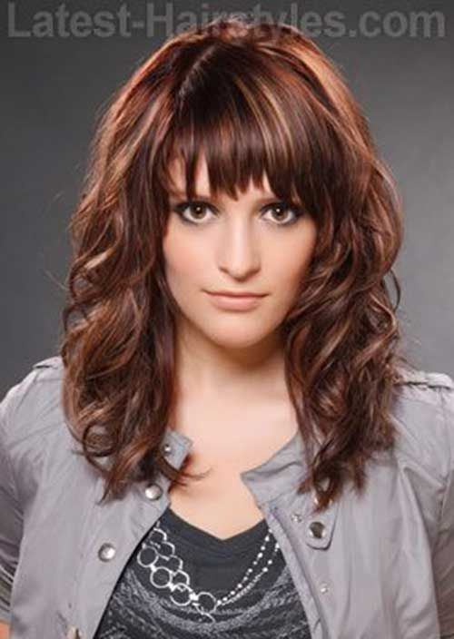 30 Best Curly Hair With Bangs Long Choppy Hair Layered
