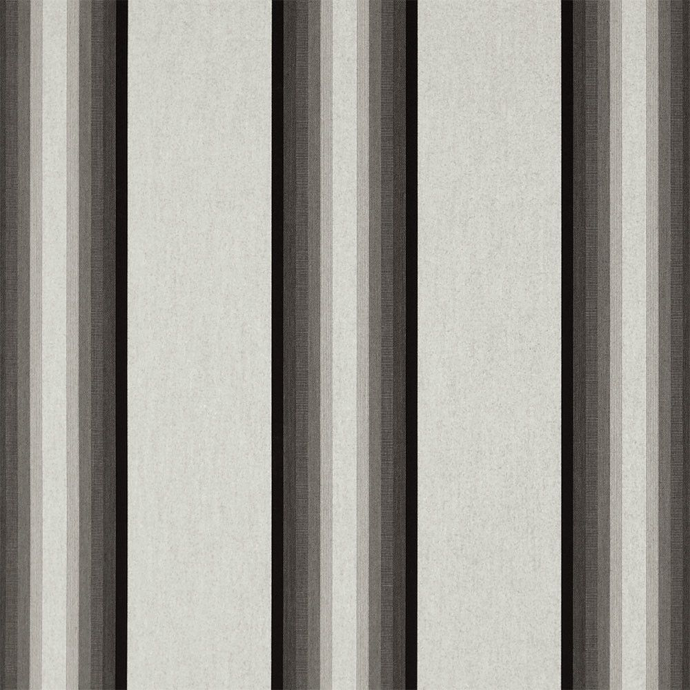 Sunbrella Awning Stripe 4799 0000 Grey Black White 46 Fabric