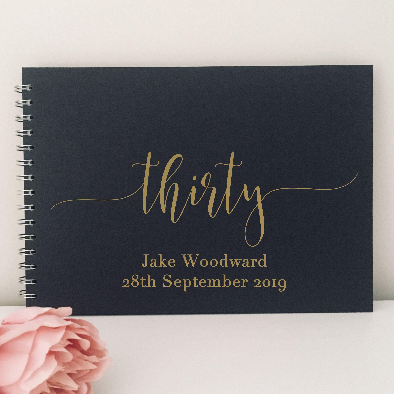 Guest Book //Memory Album Personalised White /& Deep Red Photo Album Scrapbook