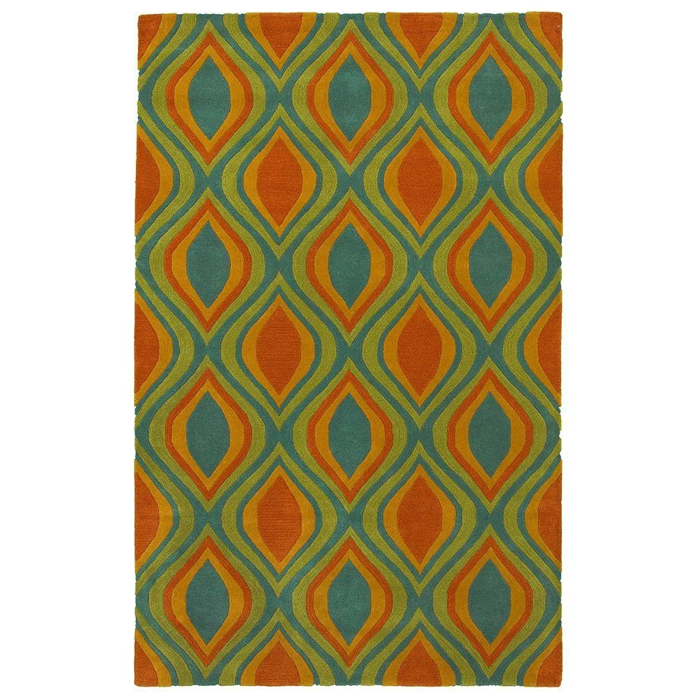 Vibrance Blue 8 ft. x 10 ft. Contemporary Indoor Area Rug