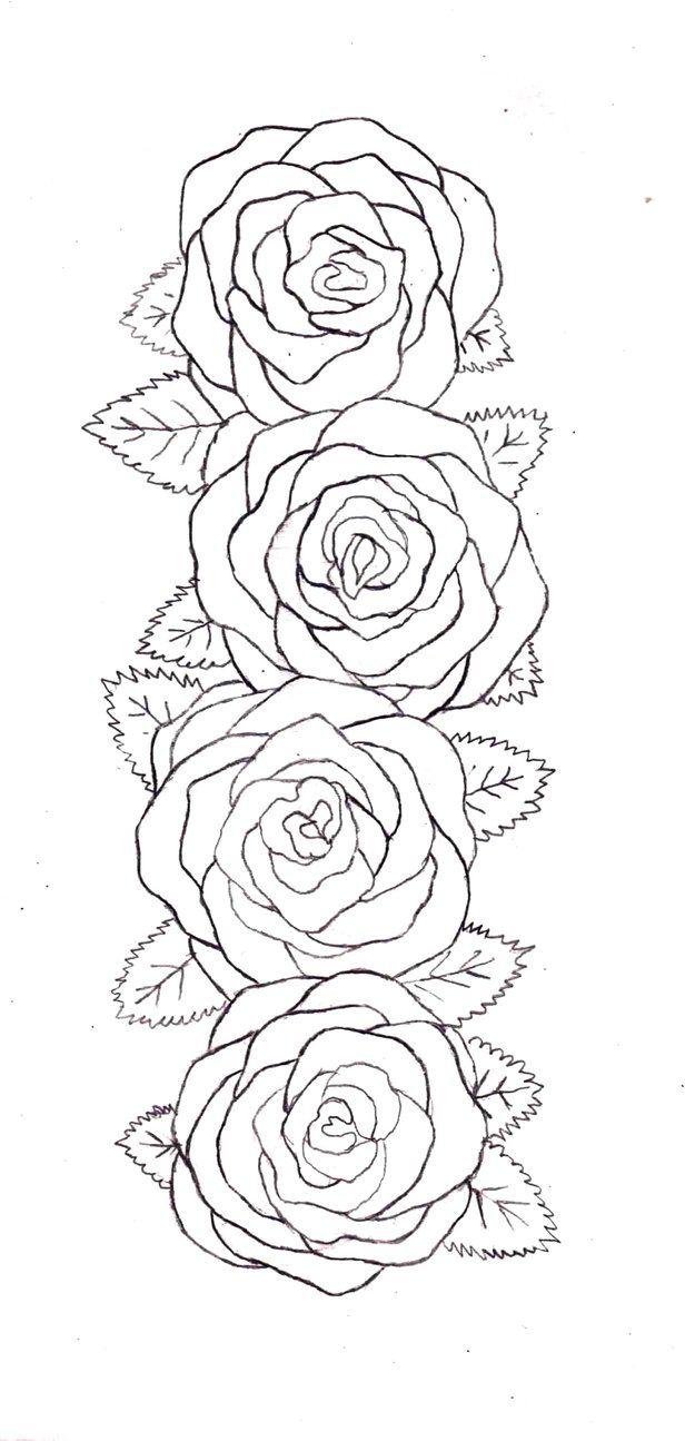 Tattoo Drawing Outline : Rose belt outline by destructiveentity on deviantart