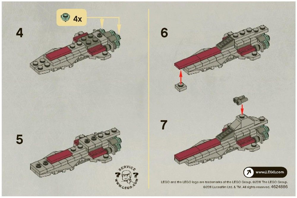 Star Wars - Venator Class Republic Attack Cruiser [Lego 30053 ...