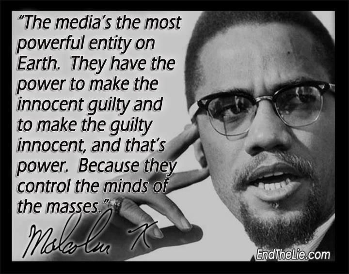 Image result for malcolm x quote media