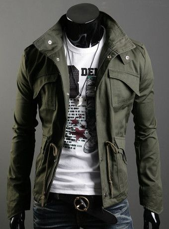 37a17b64d1d6 Free Shipping New Slim Sexy Top Designed Mens Jacket Coat Colour:Black,Army  green,Gray-in Jackets from Apparel & Accessories on Aliexpress.com