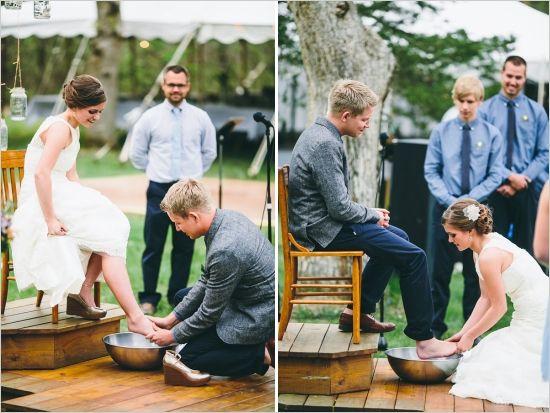 Eclectic Blue Backyard Wedding