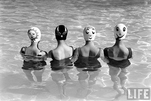 Happy swim - vintage photo