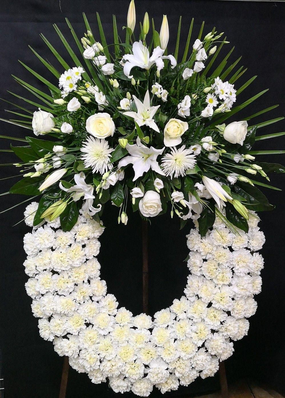 Corona De Flores Blancas Para Difuntos Flores Para El