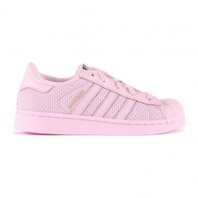 Baskets Canvas Lacets Elastiques Superstar Rose pâle Adidas
