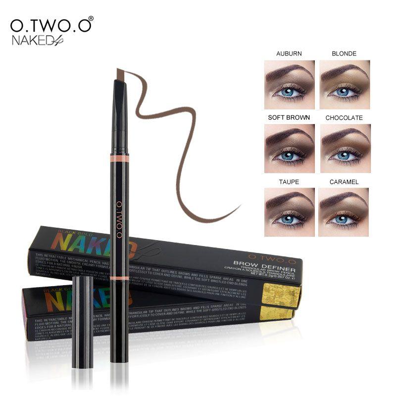 O. DEUX. O 1 pcs Étanche Sourcil Automatique Crayon Dames Front Eye Definer avec Sourcils Brosses Outils Maquillage 6 Couleurs